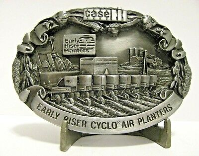 Case IH 900 Early Riser Cyclo Air Planter Pewter Belt Buckle 1988 International