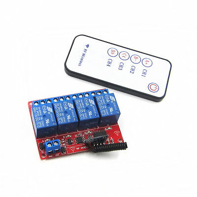 12V 4 Channal RF Wireless Modul Relais Latching Modul with Remote Controller