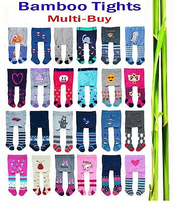 Newborn Baby Boy Girl Kids Bamboo Tights Multi Buy Leg Warmers 0-6 months