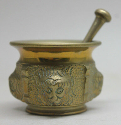 Vintage BRONZE MORTAR AND PESTLE #2