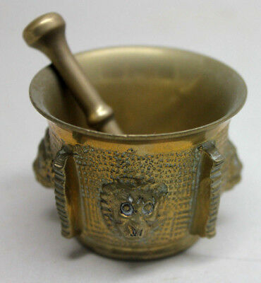 Vintage BRONZE MORTAR AND PESTLE #3