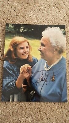 Patty Duke Tv Show Movie Helen Keller Miracle Worker  Autograph Signed Photo