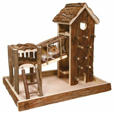 TRIXIE BIRGER Small Pet Playhouse Castle Exercise House Dwarf Hamster