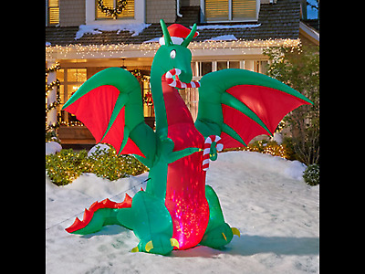 Inflatable Dragon - 11.5 Feet Tall Christmas - Airblown, Gemmy, Animated * New *