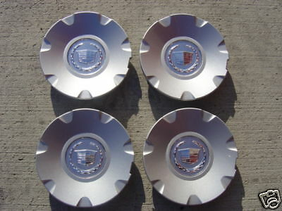 "17"" FACTORY OEM PAINTED CAPS CADILLAC CTS CREST WREATH 2004 - 2006 part 9595438"