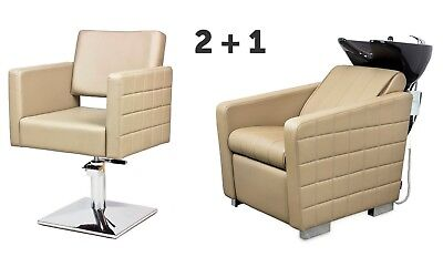 SALON HAIRDRESSING FURNITURE SETS   2 x Styling Chairs + 1 x Backwash  CUBO