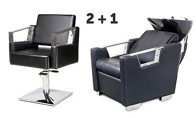 SALON HAIRDRESSING FURNITURE SETS   2 x Styling Chairs + 1 x Backwash  VERDE
