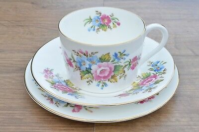 Vintage Foley Bone China Trio Cup & Saucer Floral & Gold