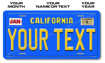 California Vintage Look Your Text License Plate Tag Car Pick Up Truck Gift New 2