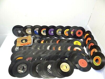 "Mixed Lot Damaged Oldies 45 RPM Ahab Music BMI Decorative 7"" Records Vinyl Discs"