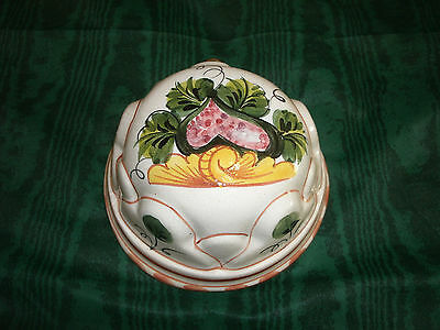Vintage  Ceramiche Bassano ABC Hand Painted Floral Mold Wall Hanging Italy
