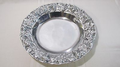 Pewter Large Serving Bowl Grapes Leaves Design Ann Kary Collection Mexico Euc