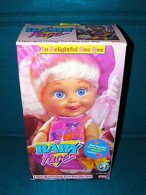 """New! BABY FACE DOLL : So Delightful Dee Dee @ 1990 Galoob 13"""" Poseable"""