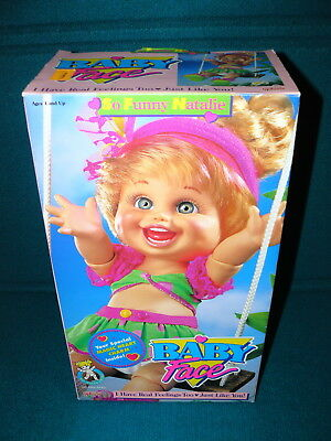 """New! BABY FACE DOLL : So Funny Natalie @ 1990 Galoob 13"""" Poseable"""