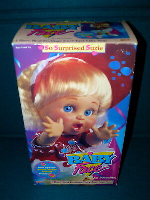 """New! BABY FACE DOLL : So Surprised Suzie @ 1990, 1991 Galoob 13"""" Poseable"""