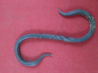 5.5 inch Hand Forged Iron Decorative Twisted S-Hook