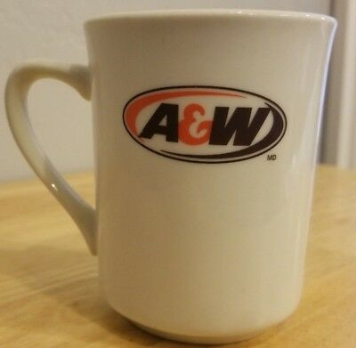 A&W ROOT BEER Coffee Mug Cup Advertising Collectible Logo Orange