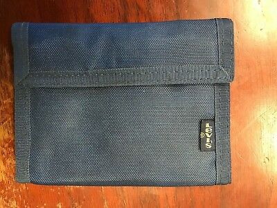 Vintage 80s Levis Nylon Wallet Dark Blue