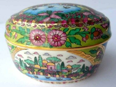Lid Box/Jewelry Box, Russia, Porcelain, Signed Hand Painted ЛФЗ G253