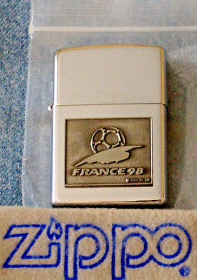 ZIPPO  FRANCE '98 Lighter EMBLEM 2 SIDED World Cup FIFA Sealed