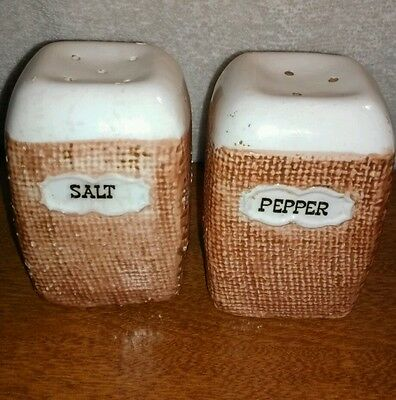 "Vintage Napco ""Homespun"" Salt & Pepper Shakers / 1961"
