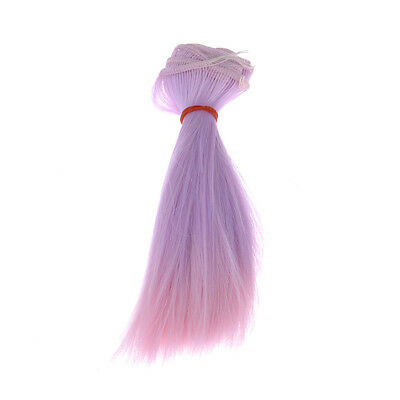 f. BJD Doll High-temperature Silk Long Straight Gradient Color Hair Wig Kid Gift