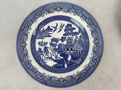 """Churchill China Staffordshire England Blue Willow Dinner Plate 10"""" Sold Each"""