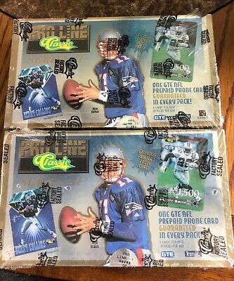 (2) 1995 Classic Pro Line NFL Card Box - Sealed Boxes