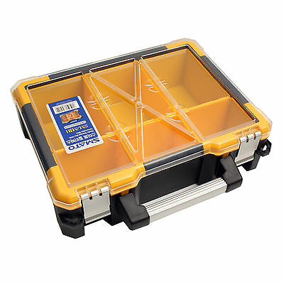 Portable Nail Screws Bolts Storage Case Tool Box Case Compartment