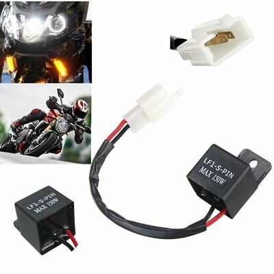 2 Pin Electronic LED Flasher Relay Motorcycle Turn Signal Bulbs Hyper Flash AU