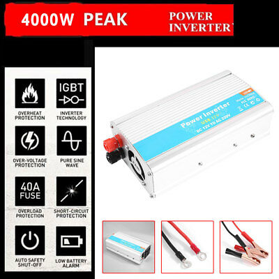 Solar Power Inverter 4000W 12V DC To 110V/220V AC Modified Sine Wave Converter