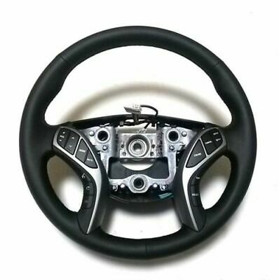 (Fits:Hyundai 2011-2013 Elantra Avante MD) Genuine Leather Heated Steering Wheel