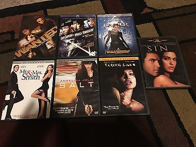 Lot Of 7 Angelina Jolie Movies, Dvds