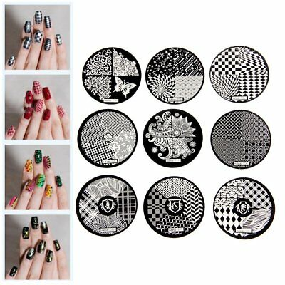 DIY Nail Art Image Stamp Stamping Plates Manicure Template 9 LS