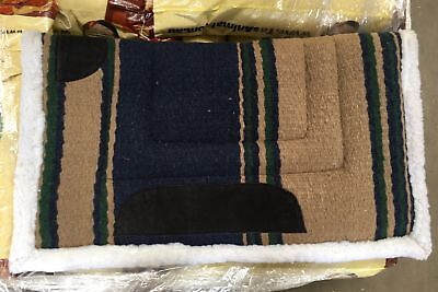NEW Western Saddle Blanket Beige/Green/Navy All Items