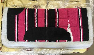 NEW Western Saddle Blanket Black/Pink All Items