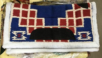 NEW Western Saddle Blanket Red/Navy All Items