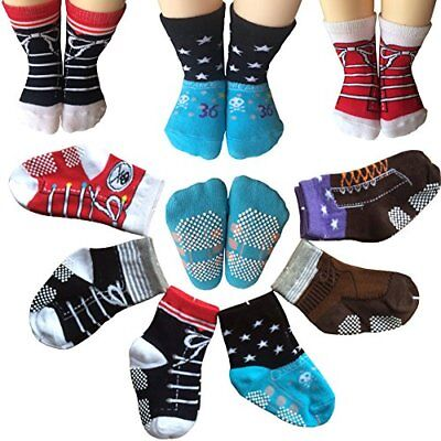 Todder 6 Pairs Non Sikd Shoes Ankle Socks Infant Baby Boy Anti- Slip Cotton Cozy