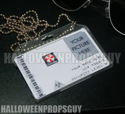 RESIDENT EVIL Style Umbrella Corp Custom ID Card PVC Prop Replica Name & Photo