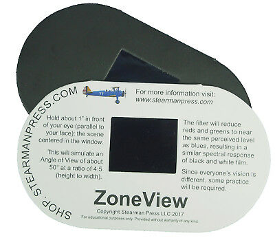 Inexpensive Black and White viewing filter, Wratten #90, preview filter,