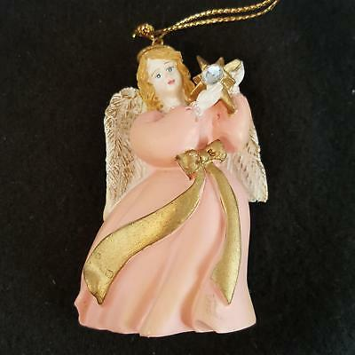 Avon Gift Collection Angel April Birthstone Ornament Simulated Diamond 1995
