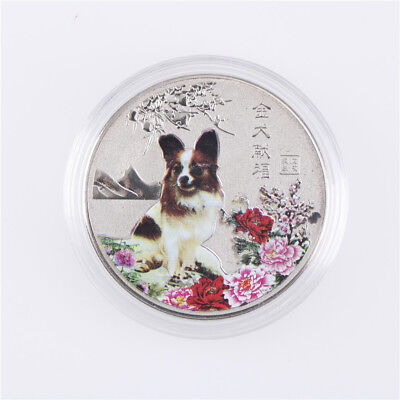2018 Year Of The Dog Commemorative Collection Coin Craft Keepsake Gift Sliver HI