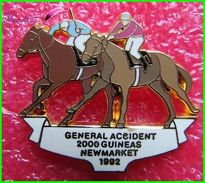 Pin's General Accident 2000 Guineas New Market 1992 Cheval Horse pfeld  #481