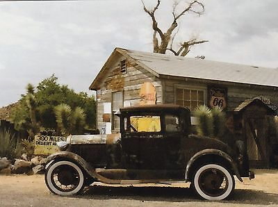 "*Postcard-""The Antique Car"" -...Parked in Front of Old Store/ (B527)"