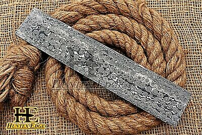 "HUNTEX Forged Damascus 10"" x2"" Rain Drop Pattern Blank Blade Billet Knife Making"