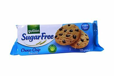 2 Packs of Gullon Sugar Free Choc Chip Cookies Biscuits 125g