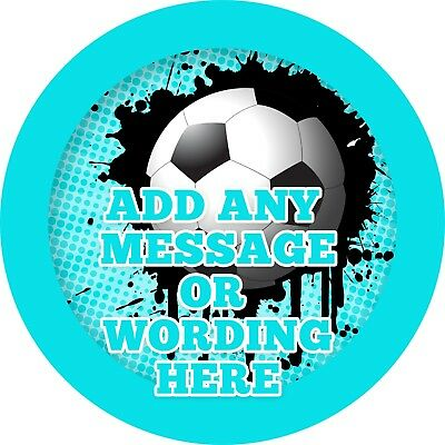 24 Personalised FOOTBALL ANY Team DIY Sweet Cone Ribbon Party Bag Stickers 745