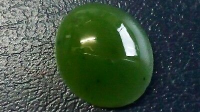 JADE CABOCHON, 12x10mm oval, 4,9ct.