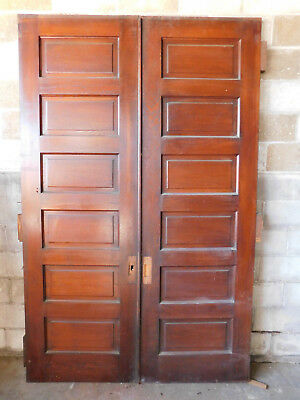 Antique Victorian Pocket Doors - Circa 1890 Oak Architectural Salvage
