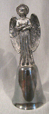 "Angel / Christmas New England Collectors Silver/Pewter Bell (4 3/8"") #016268"